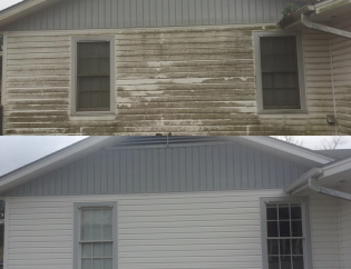 Pressure Washing Before & After